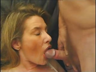 Group French porn with a mature blonde